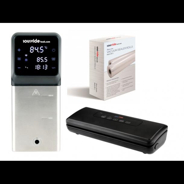 iVide® Plus Jnr WIFI Sous Vide Stav (IPX7-Vandtæt) + iVide Plus Vakuumpakker