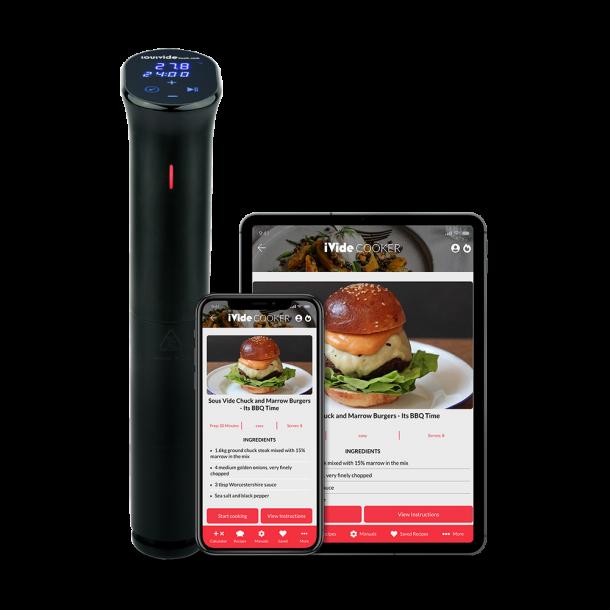 iVide® 2.0 WIFI Cooker Sous Vide Stav (IPX7-Vattentät)